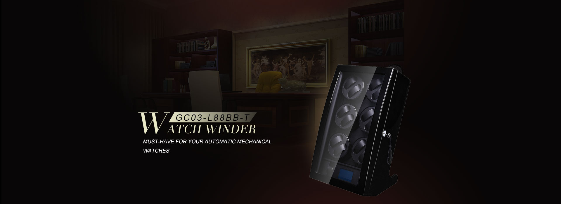 Screen Touch Watch winder for 12 watches